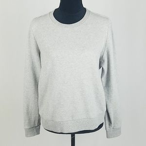 J.Crew women S sweatshirt color block tied striped